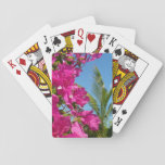 Bougainvillea and Palm Tree Tropical Nature Scene Playing Cards