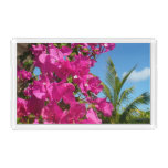 Bougainvillea and Palm Tree Tropical Nature Scene Serving Tray