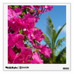 Bougainvillea and Palm Tree Tropical Nature Scene Wall Decal
