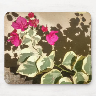 Bougainvillea and Shadow Mouse Pad