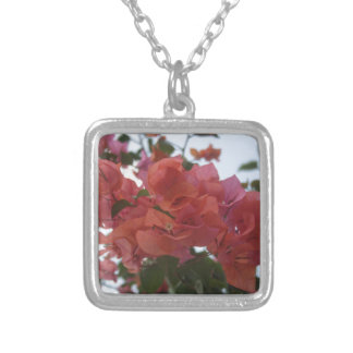 Bougainvillea At Daybreak Silver Plated Necklace