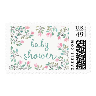 Bougainvillea Baby Shower Postage Stamp