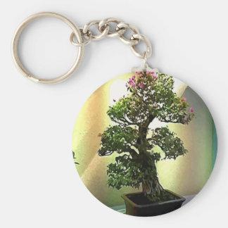 Bougainvillea Bonsai Tree Basic Round Button Keychain