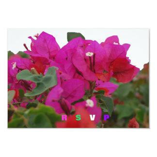 """Bougainvillea de Quinceanera RSVP Invitación 3.5"""" X 5"""""""