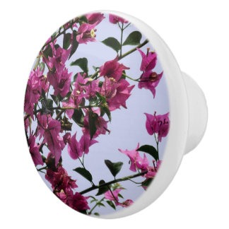Bougainvillea Dresser Knob Ceramic Knob