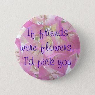 Bougainvillea Friends Pinback Button