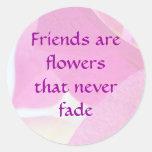 Bougainvillea Friendship Classic Round Sticker