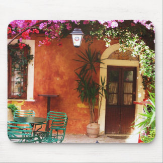 Bougainvillea growing outside a house, Mykonos, Gr Mouse Pad