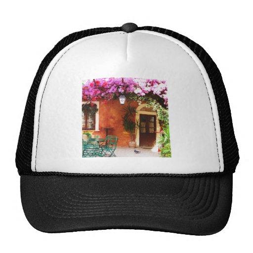 Bougainvillea growing outside a house, Mykonos, Gr Trucker Hat