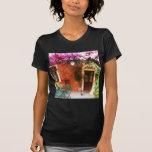 Bougainvillea growing outside a house, Mykonos, Gr T-shirt