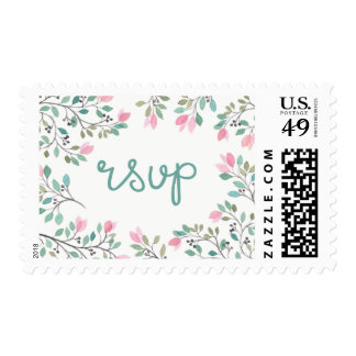 Bougainvillea RSVP Postage Stamp