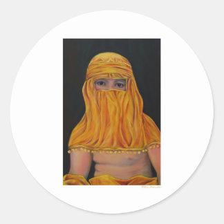Bougeareau in a Burka Classic Round Sticker