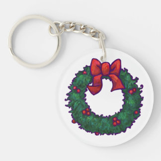 Boughs of Holly Keychain