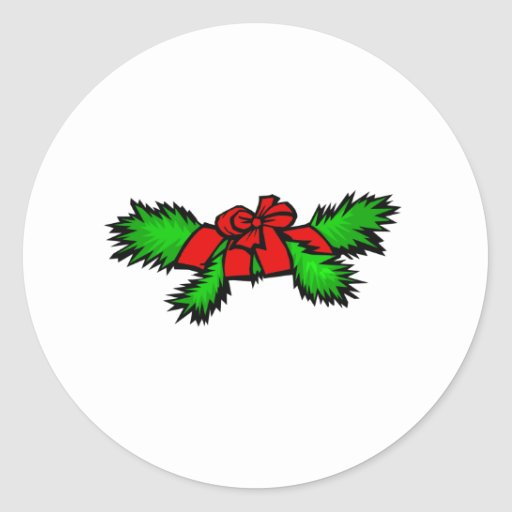 Boughs Round Stickers