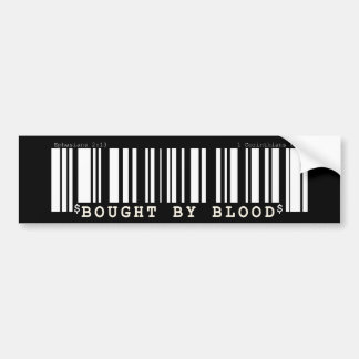 Bought by blood Christan bar code bumper sticker