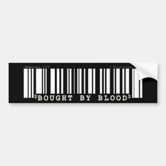 Bought by blood Christan bar code bumper sticker Car Bumper Sticker