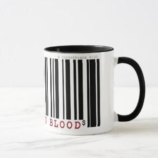 Bought by blood Christan bar code coffee mug