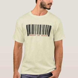 Bought by blood Christan bar code t-shirt