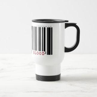Bought by blood Christan bar code travel mug