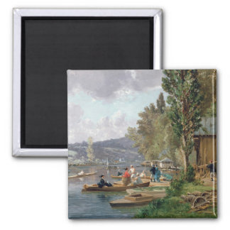 Bougival, 1873 2 inch square magnet