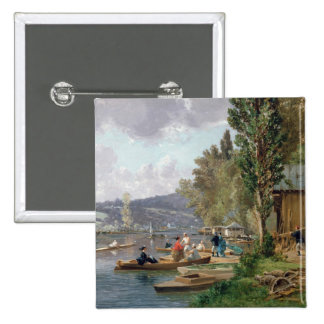 Bougival, 1873 pin cuadrada 5 cm