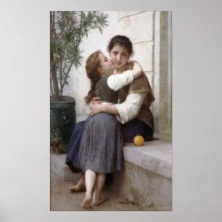 Bouguereau-A poco que engatusa 1890 Póster