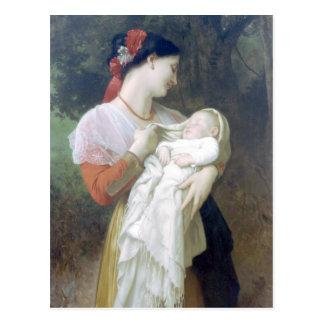 Bouguereau - admiración Maternelle Tarjetas Postales