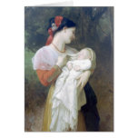 Bouguereau - admiración Maternelle Tarjetón
