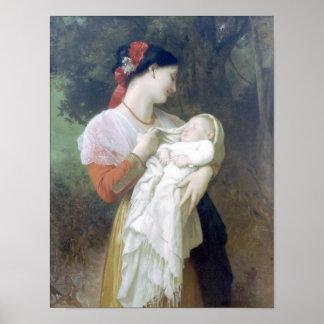 Bouguereau - Admiration Maternelle Print