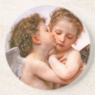 Bouguereau Angel Fine Art Sandstone Coaster