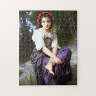 Bouguereau At The Edge of the Brook Puzzles
