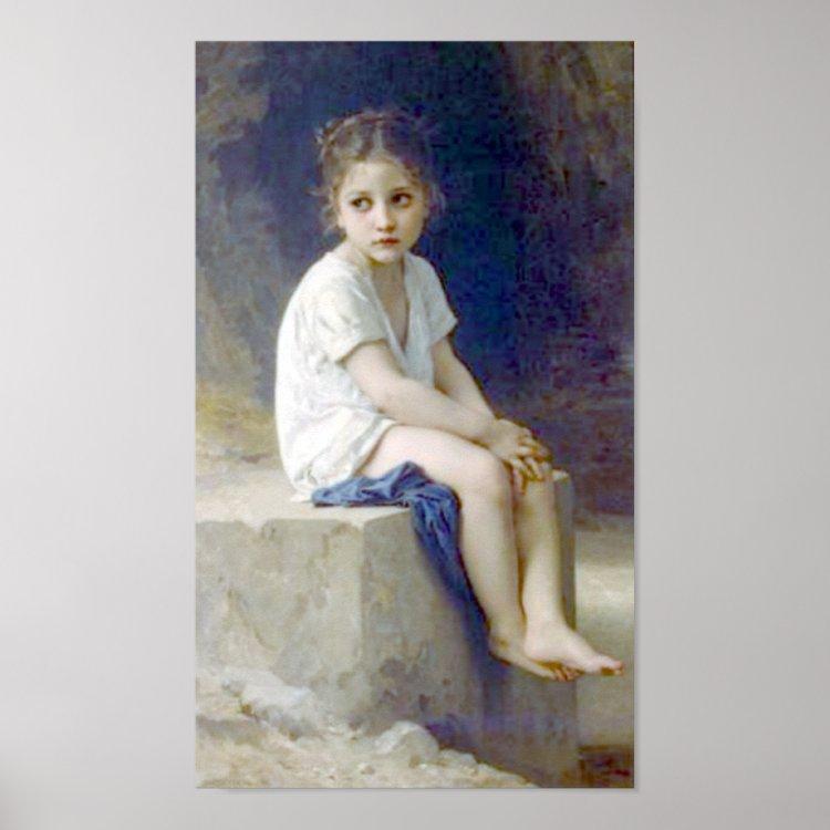 Bouguereau - Au Pied de la Falaise Poster