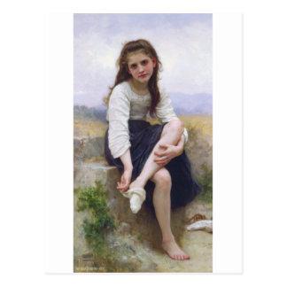 Bouguereau - Avant le Bain Postcard