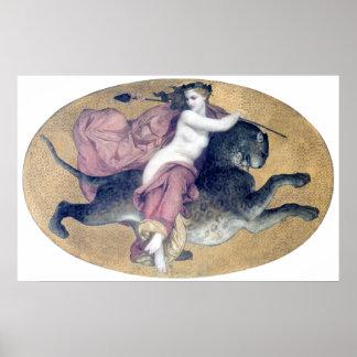 Bouguereau - Bacchante sur une Panthère Poster