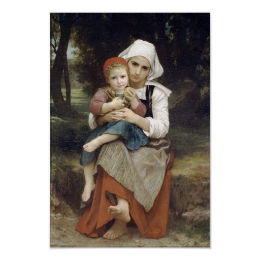 Bouguereau-Bretón Brother y hermana Poster