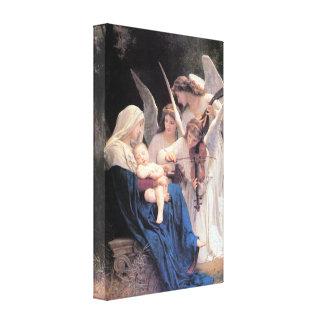 Bouguereau - canción de los ángeles lg impresiones de lienzo