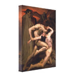Bouguereau - Dante And Virgil In Hell Canvas Prints