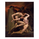 Bouguereau-Dante And Virgil In Hell Poster