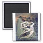 Bouguereau - Dante et Virgile au Enfers 2 Inch Square Magnet