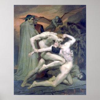 Bouguereau - Dante et Virgile au Enfers Poster