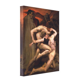Bouguereau - Dante y Virgil en infierno Impresion En Lona