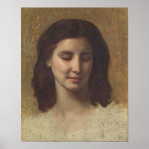 Bouguereau - d'Augustine de Etude de Tête Póster