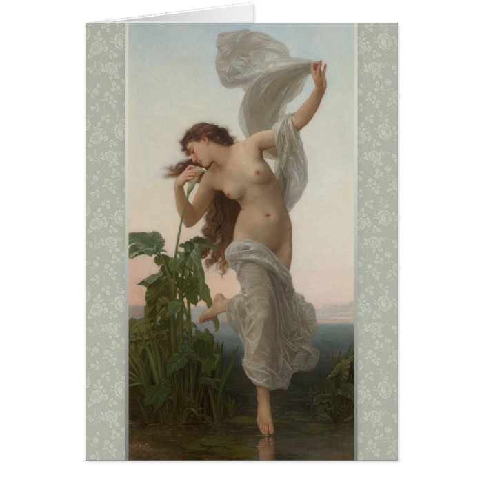 Bouguereau Dawn L'Aurore CC0873 Birthday Card