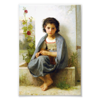 Bouguereau el pequeño calcetero arte con fotos