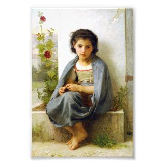 Bouguereau el pequeño calcetero fotografía