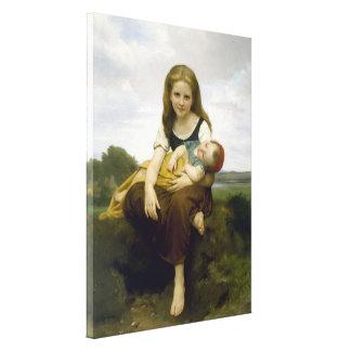 Bouguereau Elder Sister Canvas Print