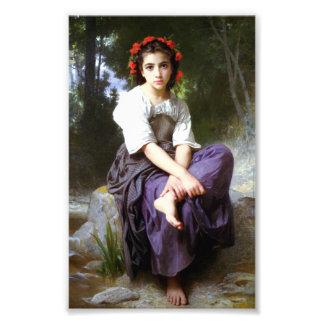 Bouguereau en The Edge de la impresión del arroyo Cojinete