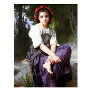 Bouguereau en The Edge de la postal del arroyo