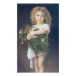 Bouguereau -  Enfant Tenant des Fleurs Poster