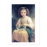 Bouguereau - Enfant Tressant une Couronne Postcard